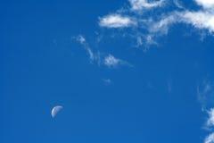 4朵云彩月亮 免版税库存图片