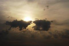 4朵云彩风暴 库存照片