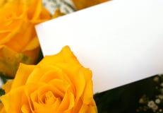 4朵玫瑰黄色 库存图片