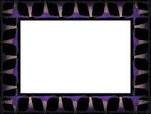 4朵花框架 免版税图库摄影