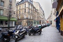 4条巴黎街道 库存照片