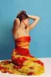 4条布裙妇女 免版税库存图片