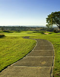 4条路线高尔夫球插孔 免版税库存照片