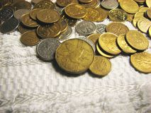 4枚硬币 图库摄影