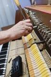 4架钢琴调整 免版税库存图片