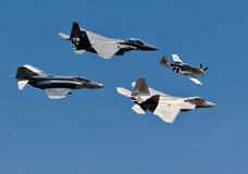 4架飞机figher生成 库存图片