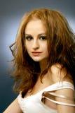4根头发红色肉欲的射击工作室妇女 图库摄影