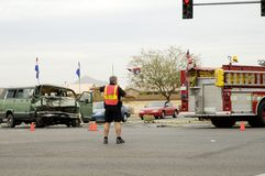 4次事故业务量 免版税库存照片