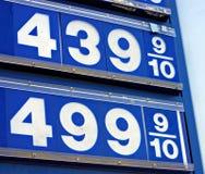 4汽油价格 免版税库存图片