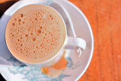 4泡影挤奶茶 免版税库存图片