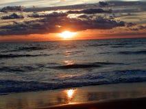 4海洋日出 库存图片
