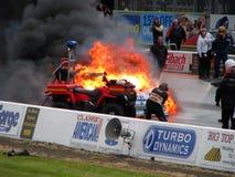 4灼烧的汽车阻力 图库摄影