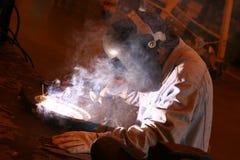 4焊工 库存照片