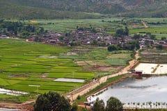 4瓷小的村庄 库存图片