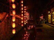 4瓷lijiang顶层游人城镇 图库摄影