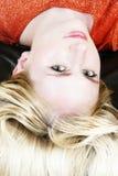 4白肤金发的女孩 库存照片