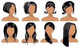 4种发型 库存图片
