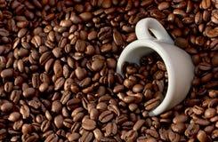 4粒豆咖啡杯 库存照片