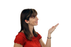 4美丽的深色的女招待 免版税库存图片