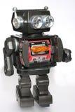 4老机器人罐子玩具 免版税库存照片