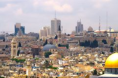 4耶路撒冷全景 库存图片