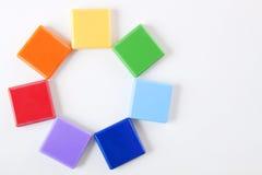 4色的彩虹轮子 免版税库存照片