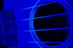 4蓝色尤克里里琴 库存图片