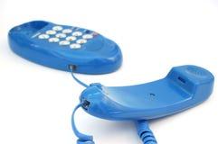 4蓝色电话 免版税库存照片