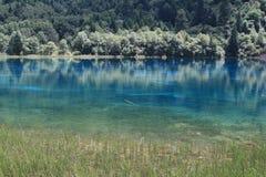 4蓝色jiuzhaigou水 库存图片