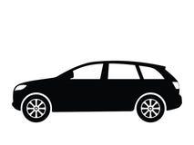 4辆汽车向量 免版税库存图片