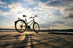 4辆自行车结尾行程 免版税库存照片