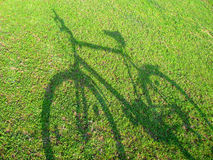 4辆自行车绿色 免版税图库摄影