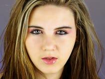 4青少年美好的女孩的headshot 库存照片