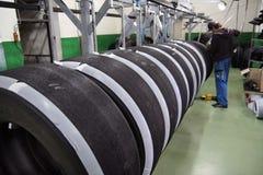 4项维修服务轮胎 免版税库存照片