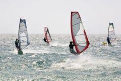 4风帆冲浪 免版税库存图片