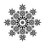 4黑色金银细丝工的星形 免版税图库摄影