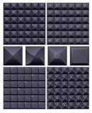4黑色马赛克无缝的集 免版税库存图片
