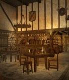 4 średniowieczna tawerna Fotografia Royalty Free