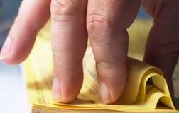 4 żółtej strony Fotografia Royalty Free