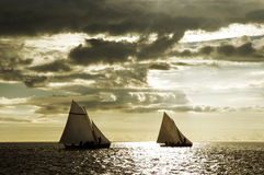 4 żeglować łodzią fotografia royalty free