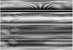 4 αλλοδαπά ενεργειακά πεδία bann που τίθενται Στοκ Φωτογραφία