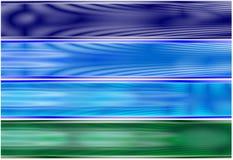 4 αλλοδαπά ενεργειακά πεδία bann που τίθενται Στοκ εικόνες με δικαίωμα ελεύθερης χρήσης