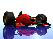 4 αυτοκίνητο f1 που συναγωνίζεται την κόκκινη ένταση Στοκ Φωτογραφίες