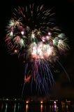 4$α πυροτεχνήματα Ιούλιος Στοκ φωτογραφίες με δικαίωμα ελεύθερης χρήσης