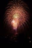 4$α πυροτεχνήματα Ιούλιο&sigma στοκ εικόνες με δικαίωμα ελεύθερης χρήσης