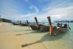 4 βάρκα Ταϊλανδός Στοκ Φωτογραφίες