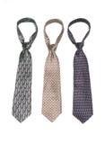 4 γραβάτες Στοκ Εικόνες