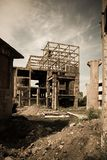 4 εγκαταλειμμένος βιομηχανικός Στοκ Εικόνες