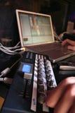 4 ελεγκτής DJ Midi Στοκ φωτογραφία με δικαίωμα ελεύθερης χρήσης
