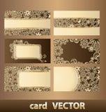 4 επαγγελματικές κάρτες Στοκ Εικόνα
